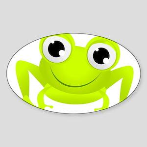 Cute Frog Oval Sticker