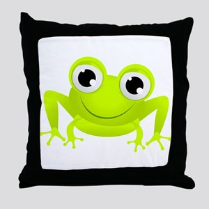 Cute Frog Throw Pillow