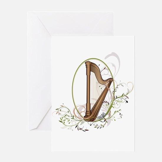 Cool Harp Greeting Card