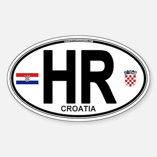Croatia Euro Oval Sticker (Oval)