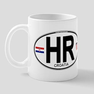 Croatia Euro Oval Mug