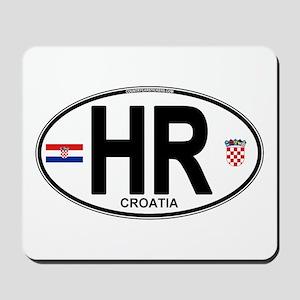 Croatia Euro Oval Mousepad