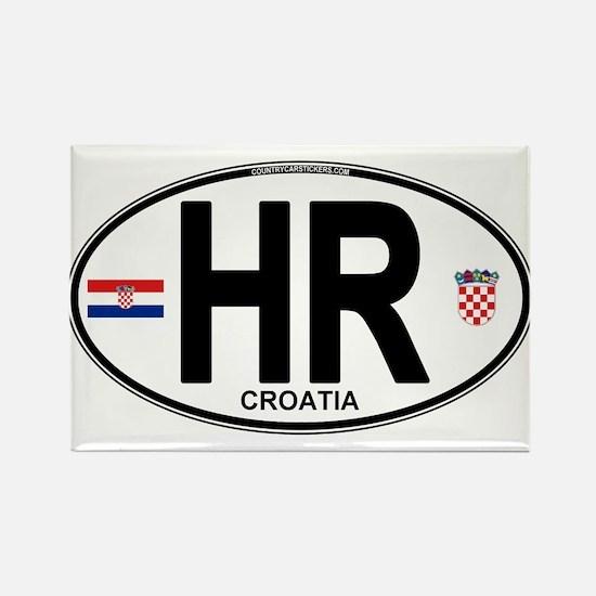 Croatia Euro Oval Rectangle Magnet