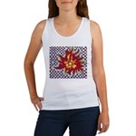 Drawing Sun in A Checkerboard Women's Tank Top