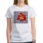 Drawing Sun in A Checkerboard Women's T-Shirt