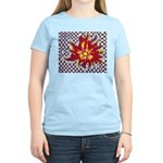 Drawing Sun in A Checkerboard Women's Light T-Shir