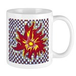 Drawing Sun in A Checkerboard Mug