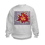 Drawing Sun in A Checkerboard Kids Sweatshirt