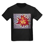 Drawing Sun in A Checkerboard Kids Dark T-Shirt