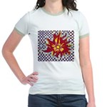 Drawing Sun in A Checkerboard Jr. Ringer T-Shirt