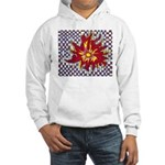 Drawing Sun in A Checkerboard Hooded Sweatshirt
