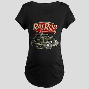 Rat Rod Speed Shop Maternity Dark T-Shirt