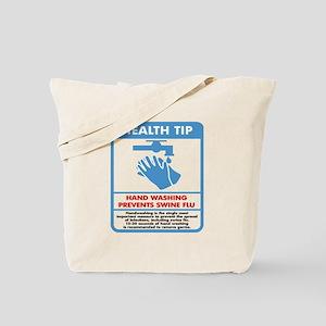 Health Tip Swine Flu Tote Bag
