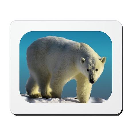 Polar bear walk Mousepad