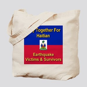 Pray Together For Haitians Tote Bag