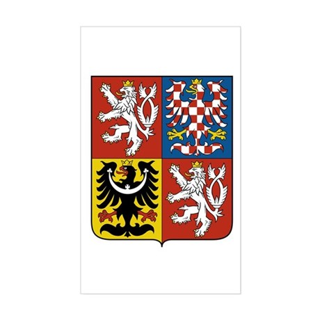 Czech Coat of Arms Rectangle Sticker