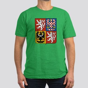 Czech Coat of Arms (Front) Men's Fitted T-Shirt (d