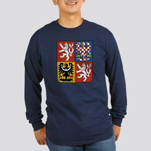 Czech Coat of Arms (Front) Long Sleeve Dark T-Shir