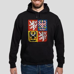 Czech Coat of Arms (Front) Hoodie (dark)
