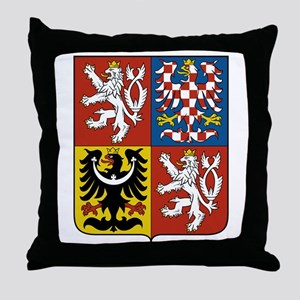 Czech Coat of Arms Throw Pillow