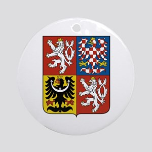 Czech Coat of Arms Ornament (Round)