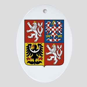 Czech Coat of Arms Oval Ornament