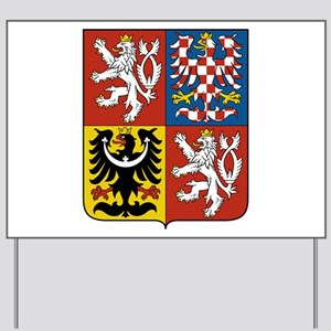 Czech Coat of Arms Yard Sign
