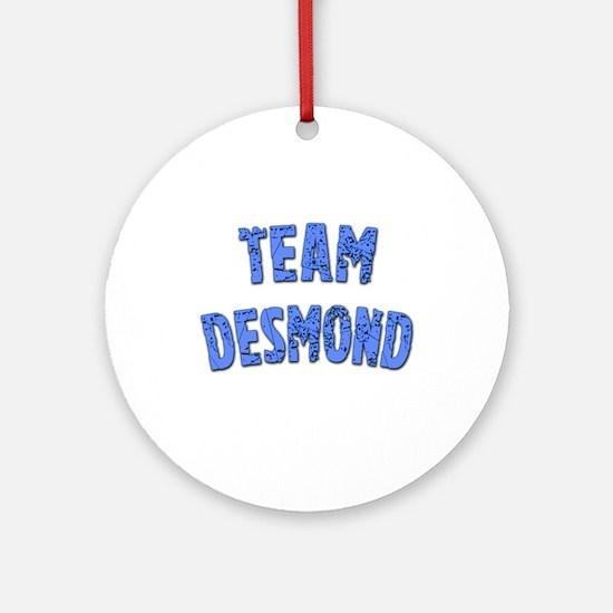 LOST Inspired TEAM DESMOND Ornament (Round)