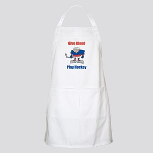 Give Blood, Play Hockey BBQ Apron