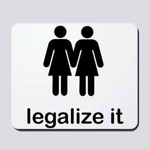 Gay Marriage Rights Lesbians Mousepad