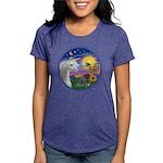 Unicorn-bluebird Womens Tri-blend T-Shirt