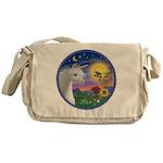 Unicorn & Blue Bird Messenger Bag