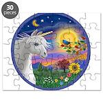 Unicorn & Blue Bird Puzzle