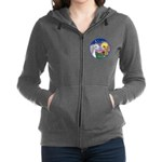 Unicorn-bluebird Women's Zip Hoodie