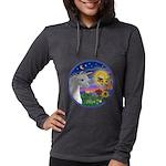 Unicorn-bluebird Womens Hooded Shirt