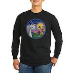 Unicorn & Blue Bird Long Sleeve Dark T-Shirt