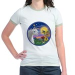 Unicorn & Blue Bird Jr. Ringer T-Shirt