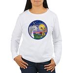 Unicorn & Blue Bird Women's Long Sleeve T-Shirt