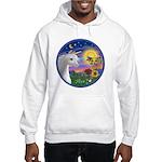 Unicorn & Blue Bird Hooded Sweatshirt