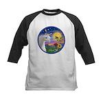 Unicorn & Blue Bird Kids Baseball Jersey