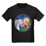 Unicorn & Blue Bird Kids Dark T-Shirt