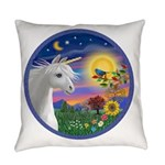 Unicorn-Bluebird Everyday Pillow