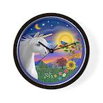 Unicorn & Blue Bird Wall Clock