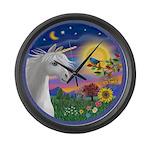 Unicorn & Blue Bird Large Wall Clock
