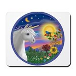 Unicorn & Blue Bird Mousepad