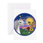 Unicorn & Blue Bird Greeting Cards (Pk of 10)
