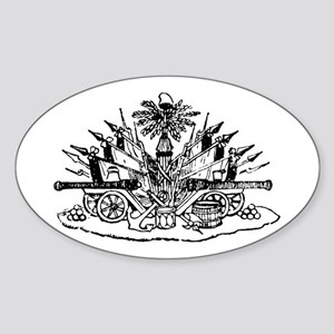 Haiti Oval Sticker