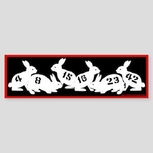 Lost Number Bunnies Bumper Sticker