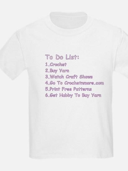 To Do List...Crochet! T-Shirt