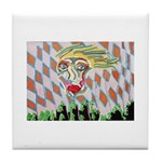 All Races - Painting by Howar Tile Coaster